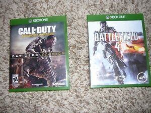 Xbox One Games - Call of Duty, Battlefield 4