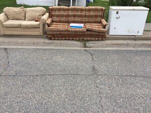 Free Sofa, Loveseat, Chest Freezer