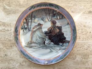 Trish Romance Collector Plate  Christmas Story