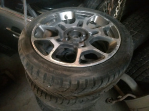 4x Fiat original mags + like new winter tires 195/45R16  d'hiver