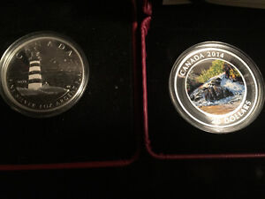 SILVER,.999, coin, ROYAL CANADIAN MINT, LOT OF 3, WOW