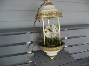 Rain Lamp with Clock