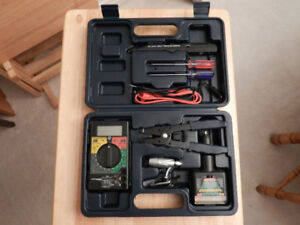 Electronics diagnostics and repair kit with case.