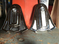 HARLEY REAR CROME AXLE COVERS