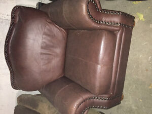 Single couch faux leather