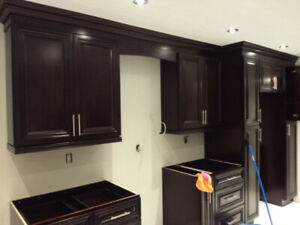 Solid wood cabinets and MDF cabinets