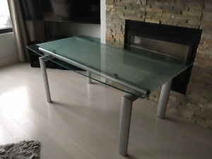 Frosted Glass dinning room table de salle a manger NO CHAIRS