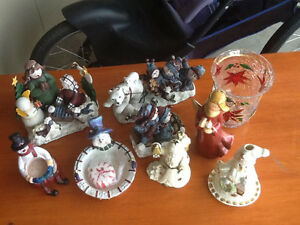 Various Christmas figurines