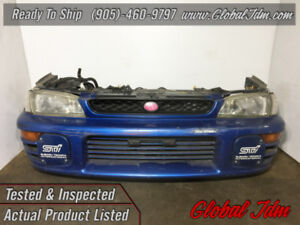 JDM SUBARU GC8 STI FRONT CUT HEADLIGHTS BUMPER FOG LIGHT COVERS