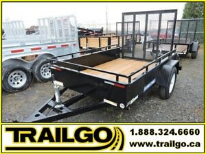 2019 Remorques HS 5X8 5X10 6X10 6X12 7X12 7X16 Trailers High Sid