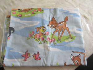 Disney Bambi twin size flat sheet