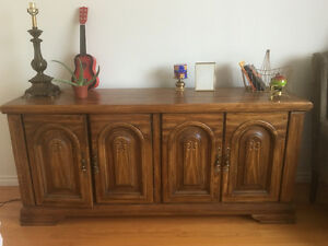 Beautiful Made in Canada solid wood hutch