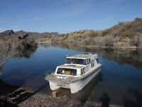 Cabin cruiser with 140hp Johnson Reduced was $10,000 now $8500