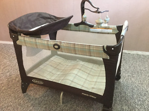 Graco Pack and Play/change, high chair, car seat bunting, gate
