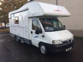 Fiat Ducato ci Carioca 6 berth 04 Reg finance available excellent condition toilet shower cooker