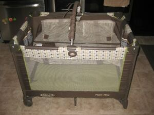 Graco Playpen - Brown and Green - $80.00 obo