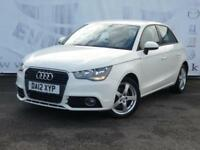 2012 AUDI A1 SPORTBACK TDI SPORT DIESEL 5 DOOR SAT NAV PARTIAL BLACK LEATHER SEA
