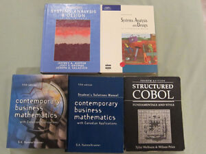 Systems Analysis, COBOL, Business Mathematics Textbooks $5 to $8