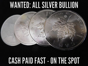 LOOKING TO BUY SILVER COINS/BULLION FOR CASH