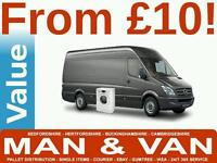CHEAPEST MAN AND VAN REMOVALS FURNITURE COLLECTION DELIVERY BED SOFA COURIER