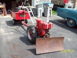 Simplicity Tractor with Plow