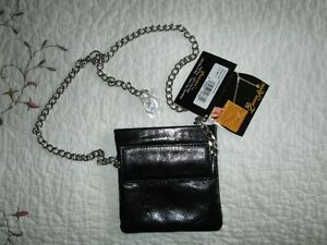 Black Zenith Angel leather Hip purse North Shore Greater Vancouver Area image 2