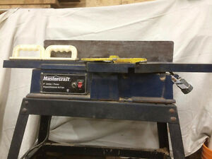 "MASTERCRAFT CAST IRON 6"" JOINTER / DEGAUCHISSEUSE"