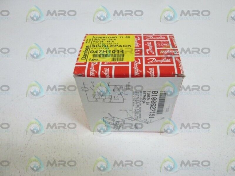 DANFOSS OVERLOAD RELAY TI 80  047H1014 * NEW IN BOX *