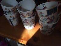 Set of 8 Portmeirion cup