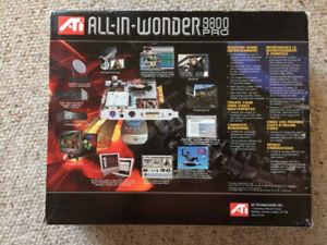 ATI All-In-Wonder 9800 Pro AGP video card with remote control -