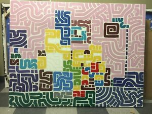 """SIMPSONS SQUIGGLE"" original painting by Kyle MacDonald"