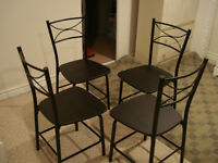 5 PC Dining Table/Breakfast Table, Light Weight- Priced to sell
