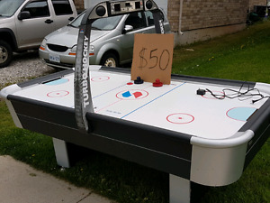 Large Air Hockey Table with Scoreboard