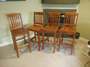 Stained Wooden Bar Chairs Windsor Region Ontario image 4