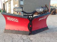 """BOSS 8'2"""" VXT Poly Snow Plow Used but like New!"""