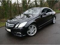 2010 MERCEDES E350 CDI AMG SPORT COUPE V6 DIESEL AUTOMATIC OBSIDIAN BLACK