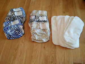 Kawaii Baby cloth diapers with inserts