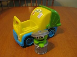 SESAME STREET OSCAR THE GROUCH WITH GARBAGE TRUCK