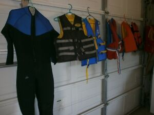 PFD, life jackets and wet-suit.