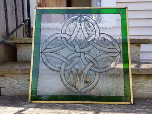 Celtic Knot stain glass window