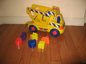 Shape Sorting Toys - Elephant, Train, Dump Truck and more