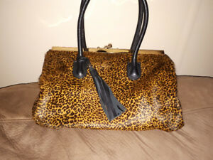 Leopard  leather  purse. Made in Italy.