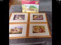 Pooh bear 4 x photo frames and giant jigsaw