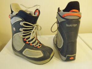 BURTON MNS SNOWBOARD BOOTS MENS SIZE 10, LADY 11, MONDO 28 sbb