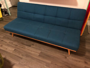 Vintage Teal Pull Down Couch For Sale