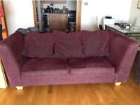 COMFY THREE SEATER SOFA. Free delivery!!!