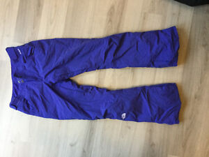 North face purple snow pants size small