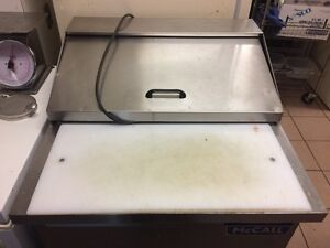 "McCall RP-6 Commercial 27"" Fridge Cold Prep Table Runs Great!"