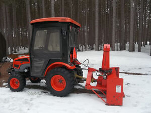 Kioti CK20 3 Cylinder Diesel with 5ft Meteor Snow Blower