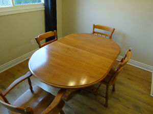 Solid Maple Dining Set- Includes 4 solid maple chairs